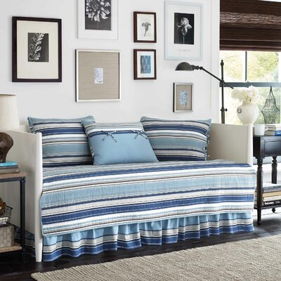 Strauss 5 Piece Daybed Cover Set Color: Blue