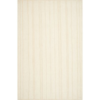 Freehand Stripe Hand-Loomed Fossil Area Rug Rug Size: Rectangle 9 x 12