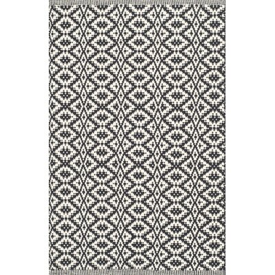 Whyte Hand Woven Ivory/Black Area Rug Rug Size: Rectangle 5 x 7