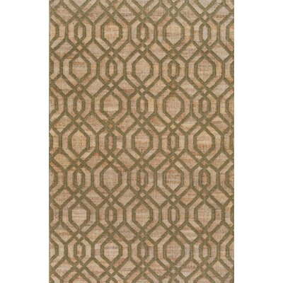 Cheyney Hand Woven Green/Beige Area Rug Rug Size: Rectangle 33 x 53