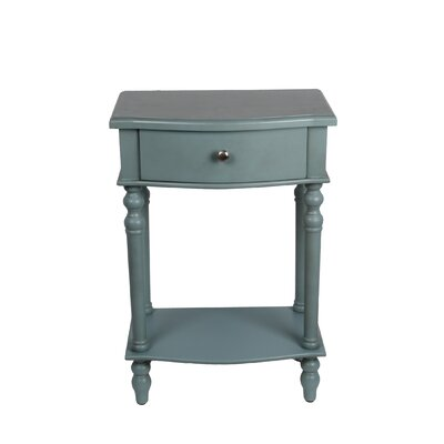 Chao 1 Drawer End Table Finish: Sage