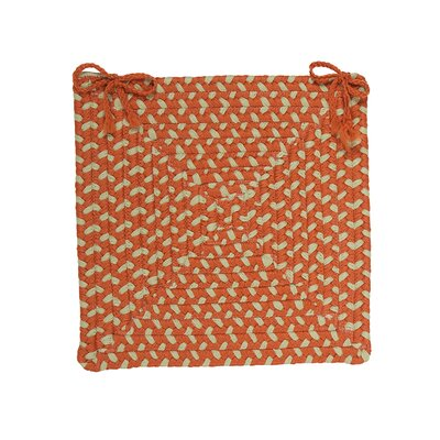 Dining Chair Cushion (Set of 4) Color: Tangerine