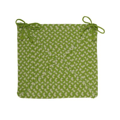 Dining Chair Cushion (Set of 4) Color: Lime Twist