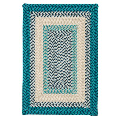 Marathovounos Hand-Woven Wool Blue Area Rug Rug Size: Rectangle 4 x 6