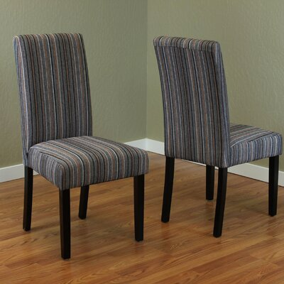 Vaughn Parsons Chair Upholstery: Gray/Orange