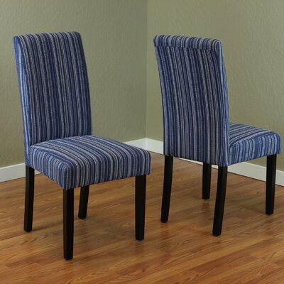 Vaughn Parsons Chair Upholstery: Blue