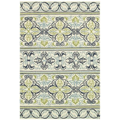 Locklin Hand-Woven Ivory Indoor/Outdoor Area Rug Rug Size: Rectangle 36 x 56