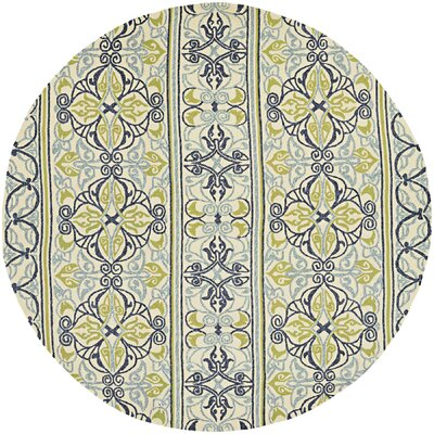 Locklin Hand-Woven Ivory Indoor/Outdoor Area Rug Rug Size: Round 710