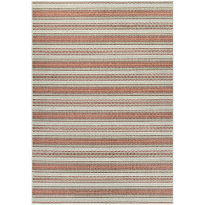 Wexford Marbella Green/Orange Indoor/Outdoor Area Rug Rug Size: Rectangle 53 x 76
