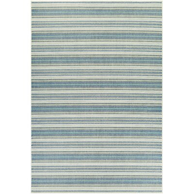 Wexford Marbella Blue/Sand Indoor/Outdoor Area Rug Rug Size: 53 x 76