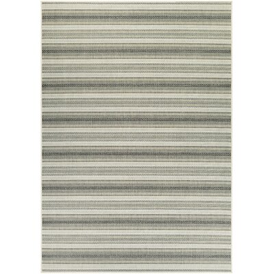 Wexford Ivory/Gray Indoor/Outdoor Area Rug Rug Size: 53 x 76