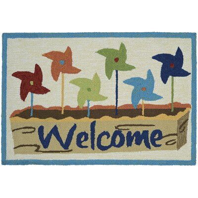 Colfax Welcome Pinwheel Kitchen Mat