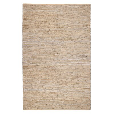 Calvary Hand-Woven Beige/Tan Area Rug Rug Size: Rectangle 4 x 6