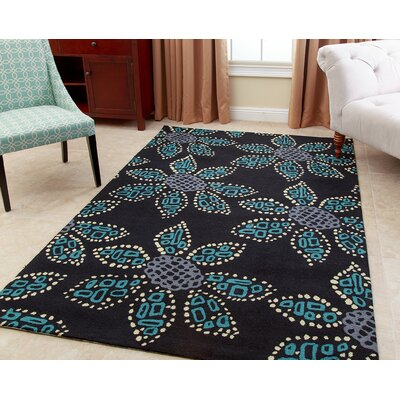 Rockville Hand-Tufted Teal Area Rug Rug Size: 5 x 8