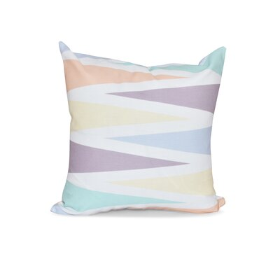 Boubacar Backgammon Geometric Outdoor Throw Pillow Size: 18 H x 18 W, Color: Lavender