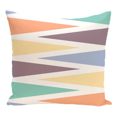 Boubacar Backgammon Geometric Outdoor Throw Pillow Color: Lavender, Size: 16 H x 16 W