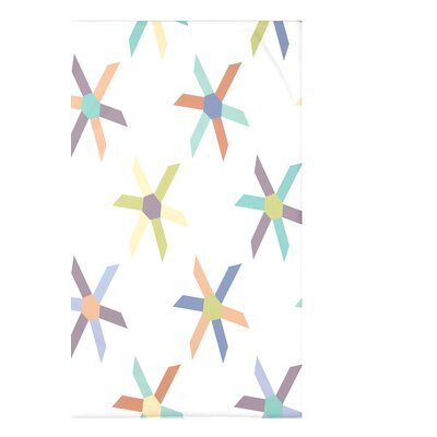 Hollister Pinwheel Pop Geometric Fleece Throw Blanket Size: 60 L x 50 W x 0.5 D, Color: Lavender