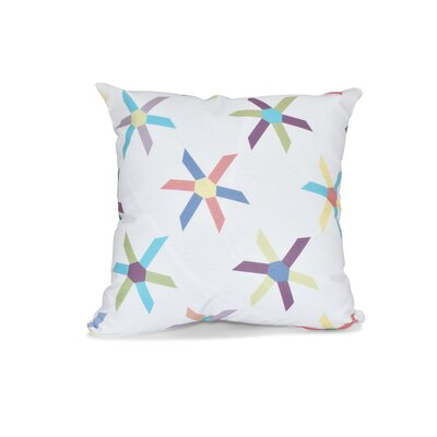 Boubacar Pinwheel Pop Geometric Throw Pillow Size: 26 H x 26 W, Color: Turquoise