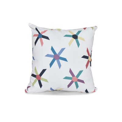 Boubacar Pinwheel Pop Geometric Throw Pillow Color: Navy Blue, Size: 18 H x 18 W