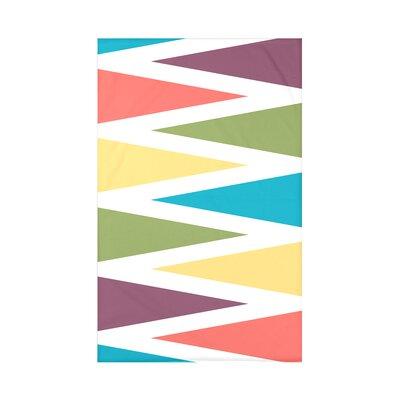 Hollister Backgammon Geometric Fleece Throw Blanket Size: 60 L x 50 W x 0.5 D, Color: Turquoise