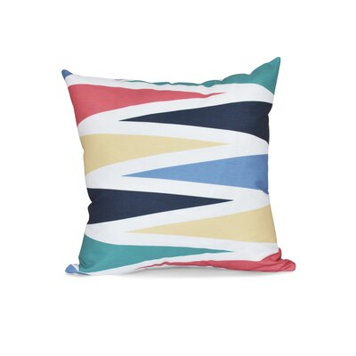 Hollister Backgammon Geometric Throw Pillow Size: 26 H x 26 W, Color: Navy Blue