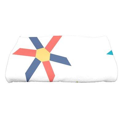 Hollister Pinwheel Pop Geometric Print Bath Towel Color: Turquoise