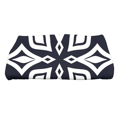 Boubacar Beach Star Geometric Print Bath Towel Color: Navy Blue