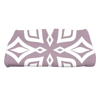 Hollister Beach Star Geometric Print Bath Towel Color: Lavender