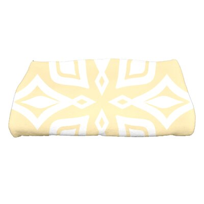 Boubacar Beach Star Geometric Print Bath Towel Color: Yellow