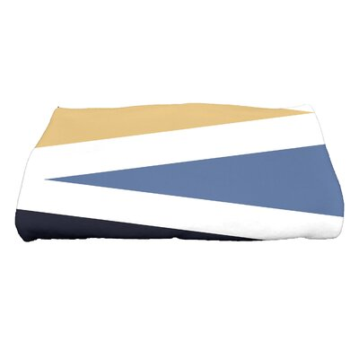 Boubacar Print Bath Towel Color: Navy Blue