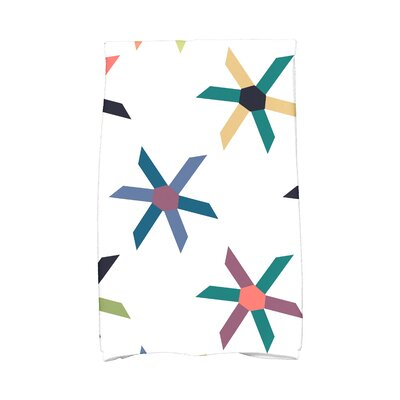 Hollister Pinwheel Pop Geometric Print Hand Towel Color: Navy Blue