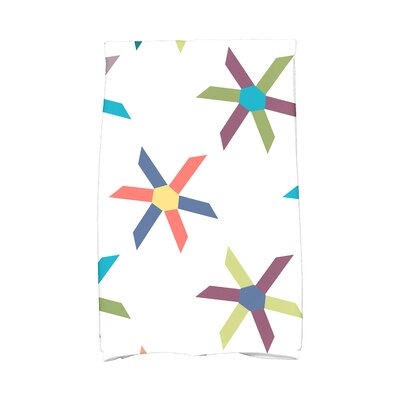 Hollister Pinwheel Pop Geometric Print Hand Towel Color: Turquoise