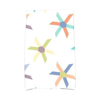 Boubacar Pinwheel Pop Geometric Print Hand Towel Color: Lavender