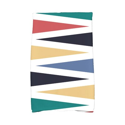 Boubacar Backgammon Geometric Print Hand Towel Color: Navy Blue