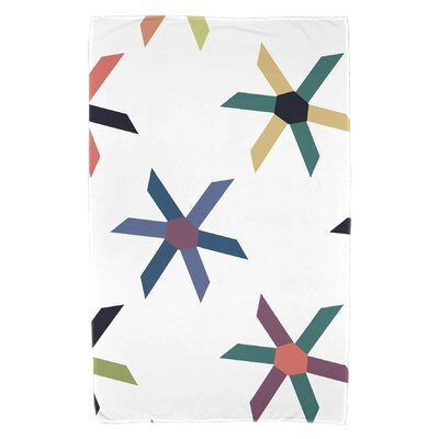 Boubacar Pinwheel Pop Beach Towel Color: Navy Blue