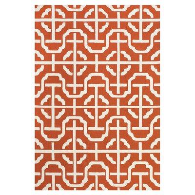 Whittenburg Orange / White Rug Rug Size: 5 x 8