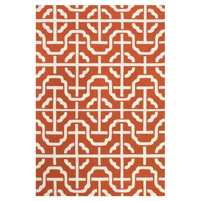 Shipley Orange / White Rug Rug Size: 2 x 3