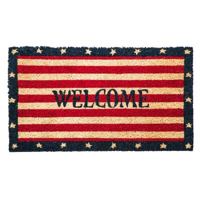 Pinole Point Patriotic Welcome Coir Mat
