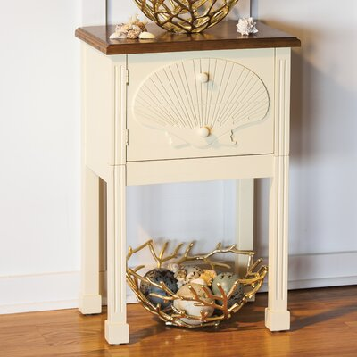Eddyson Scallop Shell End Table
