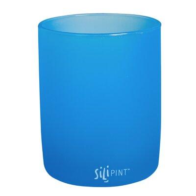 Koch 12 oz. Siliwine Stemless Wine Glass Color: Bend Blue
