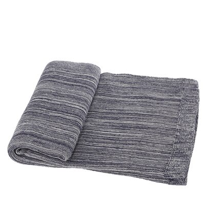 Waldport Cotton Throw Blanket Color: Blue