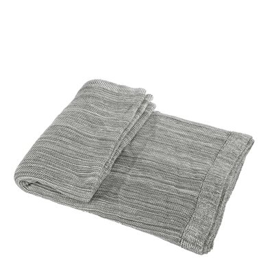 Waldport Cotton Throw Blanket Color: Gray