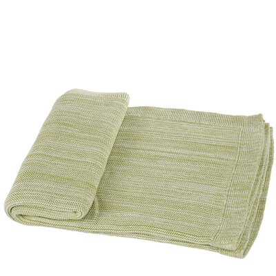 Waldport Cotton Throw Blanket Color: Green