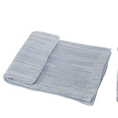 Waldport Cotton Throw Blanket Color: Light Blue