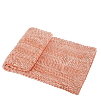 Waldport Cotton Throw Blanket Color: Orange