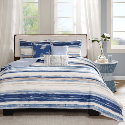 Cardiff 6 Piece Quilted Coverlet Set Size: Full / Queen