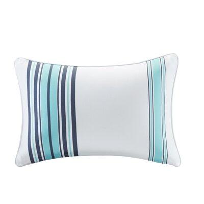 Corbin Outdoor Lumbar Pillow Color: Blue