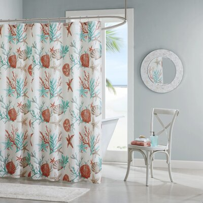 Keyport Cotton Printed Shower Curtain