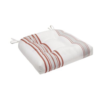 Corbin Outdoor Cushion Size: 3 H x 20 W x 20 D, Color: Coral/White