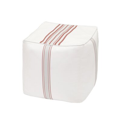 Corbin Ottoman with Cushion Color: Coral